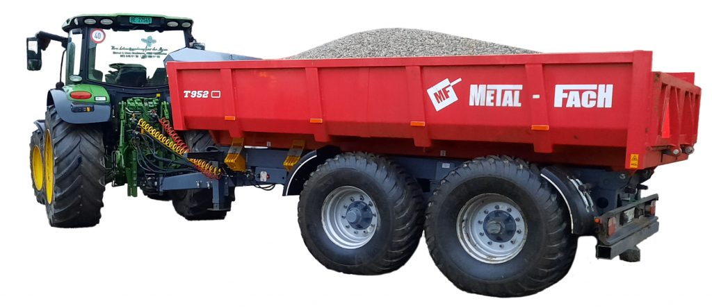 Materiallieferung von Kies und Sand